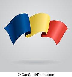 Romanian waving Flag. Vector illustration