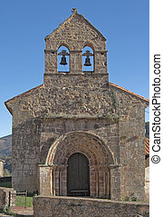 romanic church, Sta Juliana, Lafuente, Cantabria, Spain