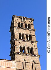 Romanic church tower - Tower of a church in romanic style