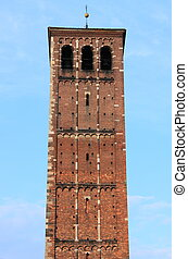 Romanic tower of Saint Ambrogio cathedral
