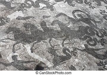 romano, antico, mosaico