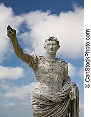 romano, emperador, estatua, augustus