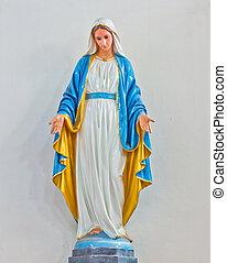 romano, estatuas, santo, mujeres