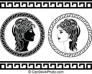 romano, mujer, perfiles