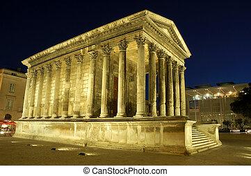 romano, nimes, templo