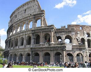 romano, ruinas antiguas, rome:, colloseum