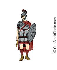 romano, soldier.
