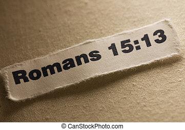 Romans 15:13 - Picture of scripture.