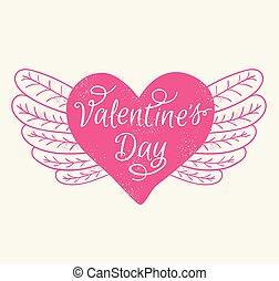 romans, dzień, karta, valentine