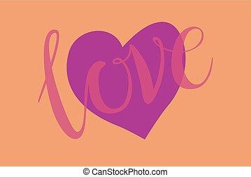 romansowe serce, formułować, projektować, dla, miłość, symbols.