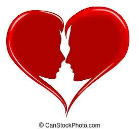 romansowe serce