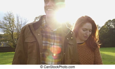 Romantic Afternoon Walk - Slowmo video of a young couple...