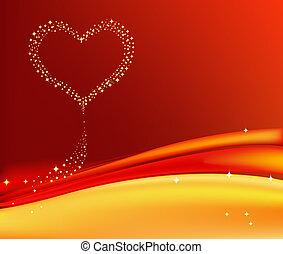 Romantic artistic background
