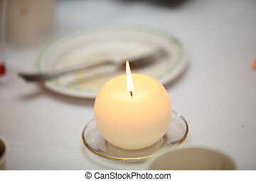 Romantic atmosphere with candle