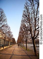 Romantic autumn in Paris.