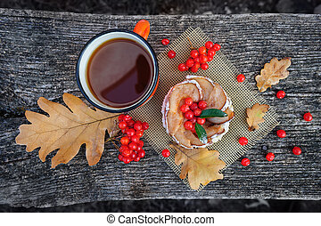 Romantic autumn still life