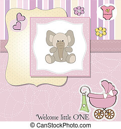 romantic baby girl announcement car