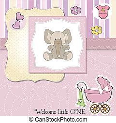 romantic baby girl announcement car