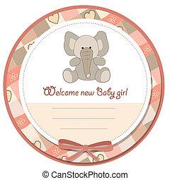 romantic baby girl announcement