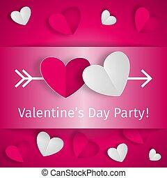 Romantic background Happy Valentine's Day Party
