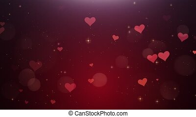 Romantic background of Red hearts?