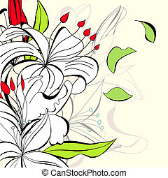 Romantic background with flowers