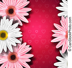 Romantic background with gerberas
