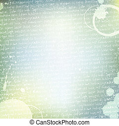 Romantic background with handwritings. Vector, EPS10