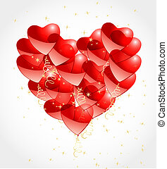 romantic background with hearts