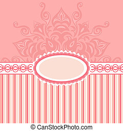 Romantic background with pattern