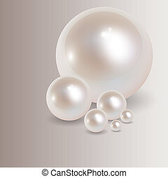Romantic background with pearls, vector.
