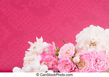 romantic background with rose