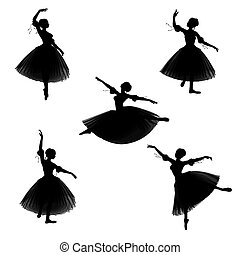Romantic Ballerina Silhouettes