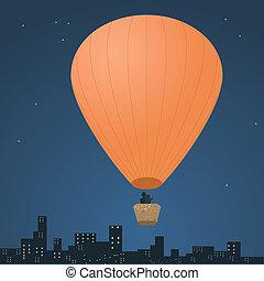 Romantic balloon flight