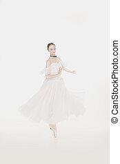 Romantic Beauty. Retro Style ballerinas