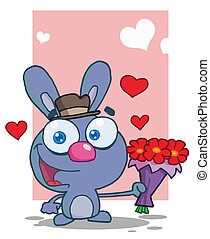 Romantic Blue Bunny