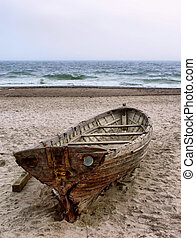 romantic boat on the beach - romantic boat on the Odessa...