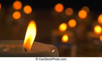 Romantic Candle Light Background View