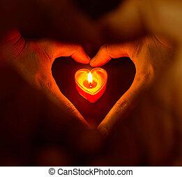 romantic candles,Valentine background.