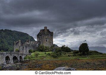 Romantic castle in Scotland - Scotland heritage in highlind...