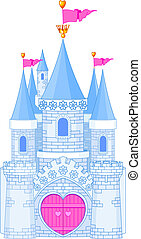 Romantic Castle - Vector Illustration of a romantic Fairy...