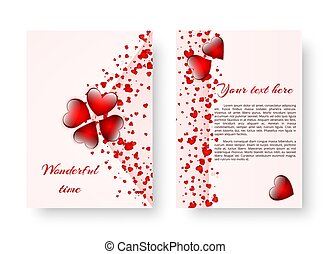 Romantic catalog with red hearts - Template of a wedding...