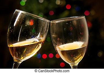 Romantic Cheers Wine Christmas
