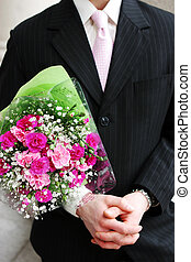 Romantic corporate man