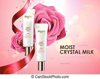 Romantic cosmetic ads