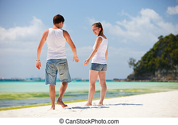 Romantic couple at beach