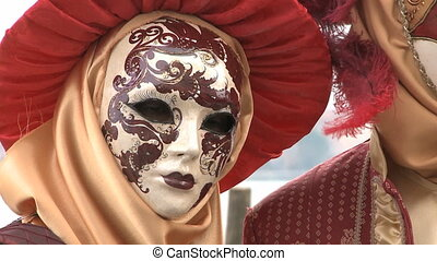 Romantic Couple at Venice Carnival