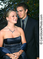 Romantic Couple - Beautiful young girl and handsome young...