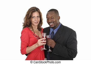 Romantic Couple Celebrating With Wine 11