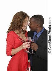 Romantic Couple Celebrating With Wine 12